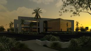 RENDERING - MAIN EXTERIOR LATE AFTERNOON 2